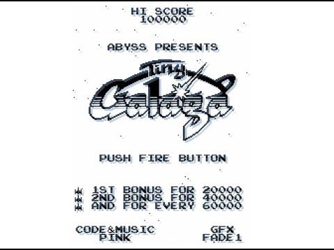 RETROJuegos Homebrew - TINY GALAGA © 2020 Pynk / Fad One - Commodore Amiga