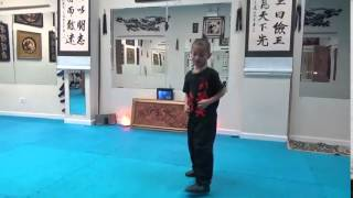 Jumping Spin Kick - Keo 7 yrs - March 30 2016
