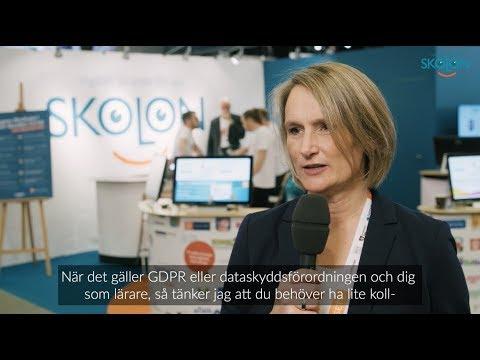 Vad du som lärare bör tänka på gällande GDPR - Johanna Karlén, SKL