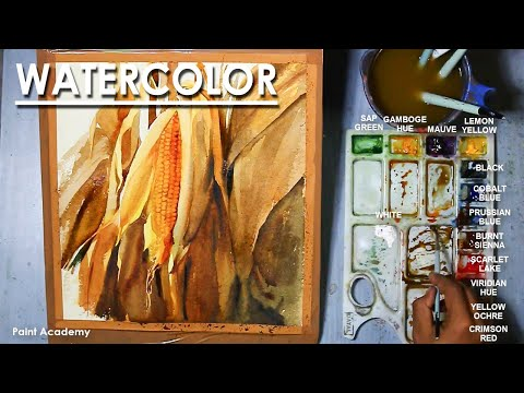 Watercolor Painting : A Composition on Corn