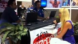 Mallory radio interview during swim trials