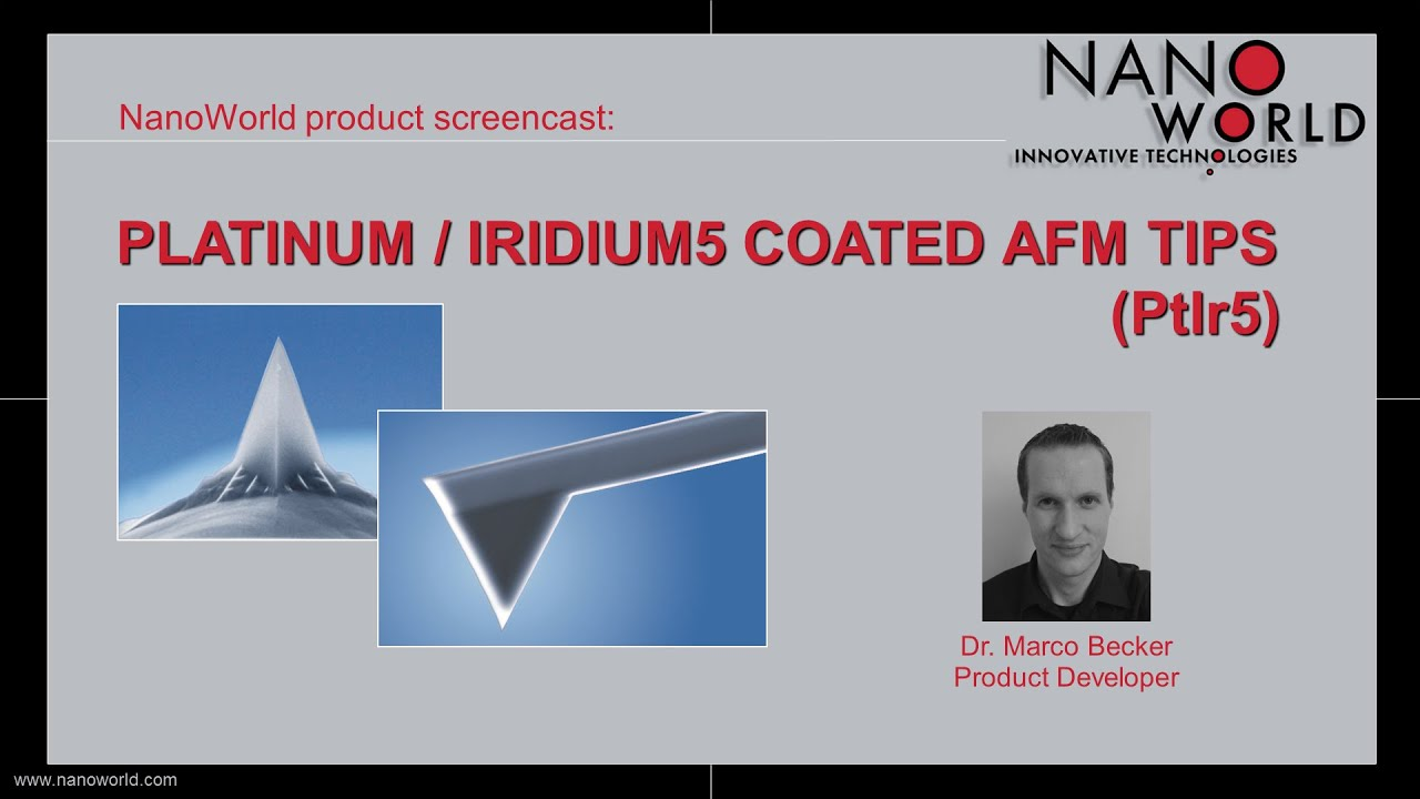 NanoWorld Platinum / Iridium5 (PtIr5) Coated AFM Tips