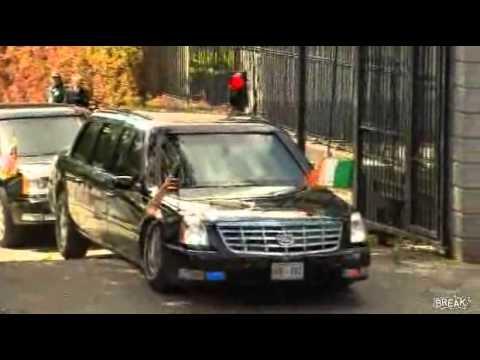 USA Presidential Limo get stucks!!!funny epic fail..