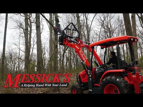 Tree line maintenance from your tractor seat with the Mini-Clip. Picture