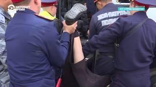 Задержание мужчины протезом