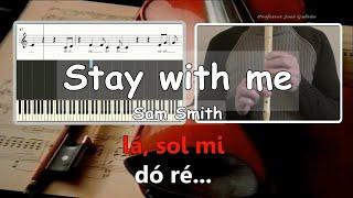 Stay with me - Sam Smith - Karaoke para flauta Educação Musical Jose Galvao