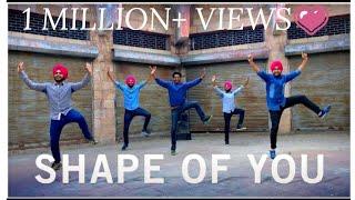 SHAPE OF YOU || PUNJABI BHANGRA STYLE || ED SHEERAN || ft. MITTRAN DE JUNCTION TE || DILJIT DOSANJH