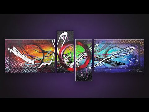 Abstract Painting Demonstration | Nebula and Space | ASMR Painting | Hydre