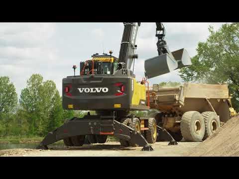 Volvo EW240E Material Handler: versatile and productive