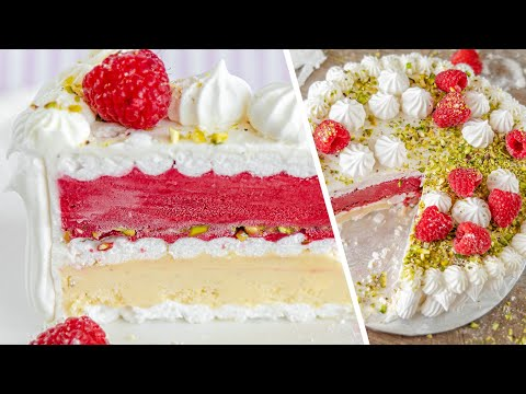 ТОРТ МОРОЖЕНОЕ   очень вкусный французский десерт Vacherin Glacé   простой рецепт