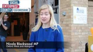 Nicola Blackwood speaks about Social Enterprise in Oxfordshire on a visit to Oxford Wood Recycling