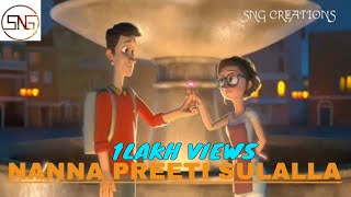 Nanna Preethi Sullalla Song- By Chandan Sheety-with beautiful love story width=