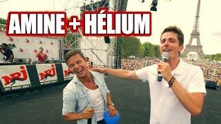 Amine chante Señorita avec de l'hélium devant 70 000 personnes