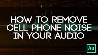 How To Get Rid Of Cell Phone Noise In Audio! - Use Spectral Display To Easily Erase Frequencies!