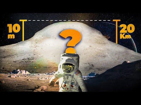 El tamaño real de las montañas de la Luna | La ilusión de perspectiva cósmica