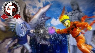 Naruto vs Sasuke stop motion - First battle うずまきナルト VS うちはサスケ 火影忍者-鳴人VS佐助