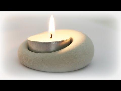 Kerzenhalter aus Gips * DIY * Plaster Candle Holder