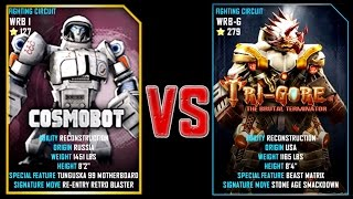 REAL STEEL WRB FINAL Cosmobot VS TRI GORE (Champion)(279) New Robots UPDATE Живая Сталь