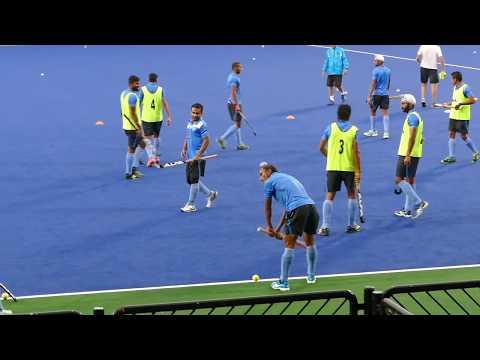 India mens mini hockey game 5 v 5