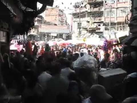 Tihar shopping crowds in Kathmandu