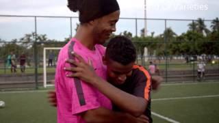 Ronaldinho Gaucho Desafio do travessão Domindando Sua Cidade