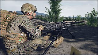 .50 BMG ROOFTOP SUPPORT - Squad Gameplay