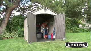 Lifetime 8 x 10 Foot Outdoor Storage Shed (Model 60018)