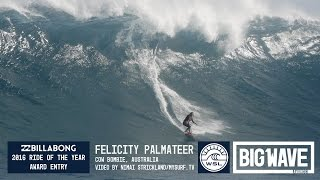 Felicity Palmateer at Cow Bombie - 2016 Billabong Ride of the Year Entry - WSL Big Wave Awards