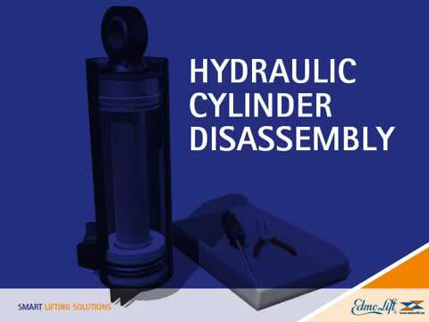 Hydraulic cylinder disassembly