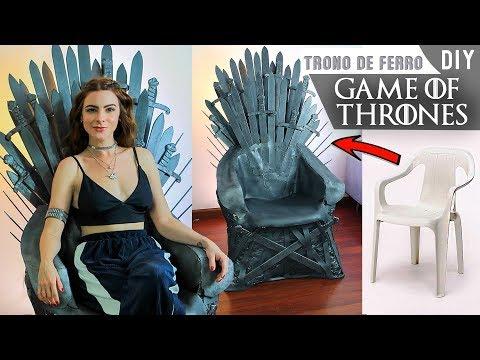 DIY Trono de Ferro à partir de uma cadeira de plástico.