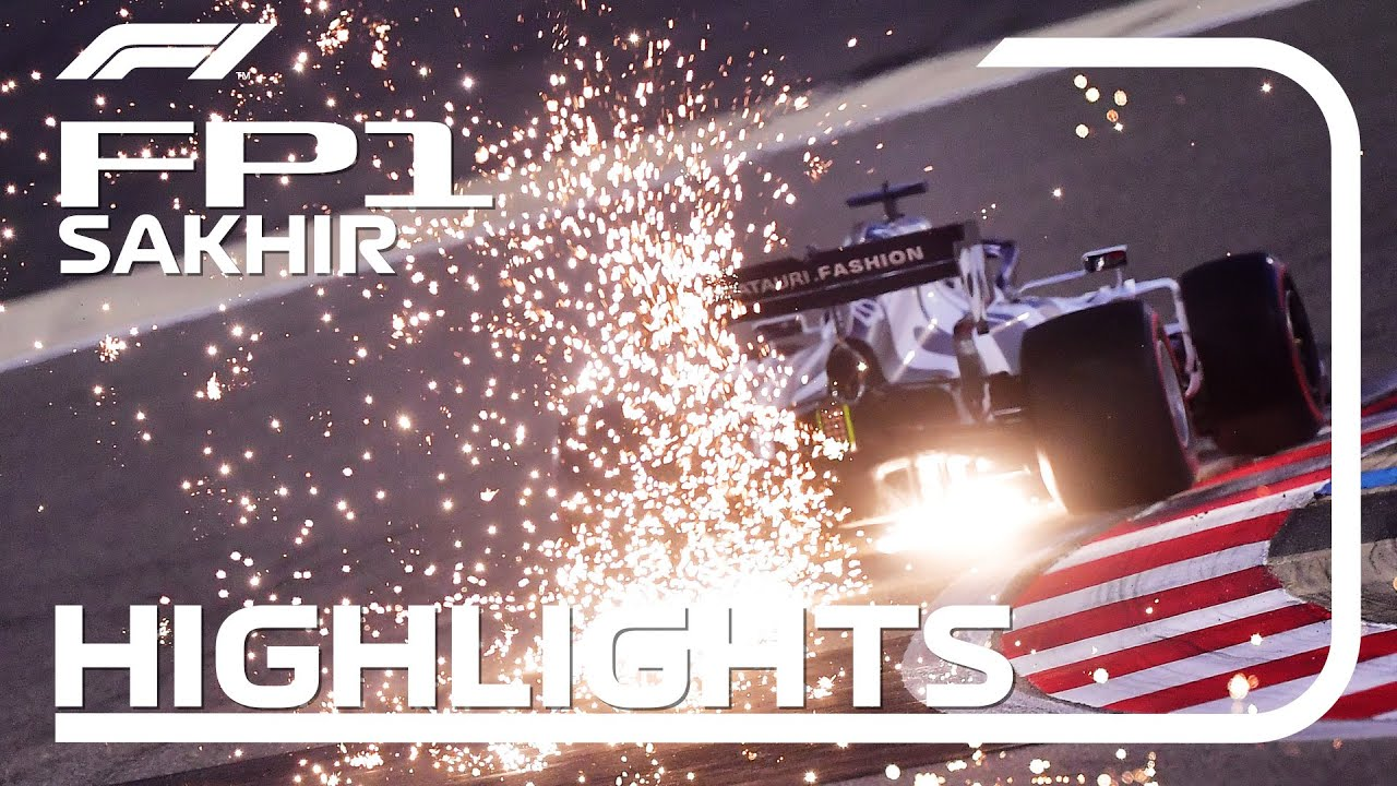 Formula1 - 2020 Sakhir Grand Prix: FP1 Highlights