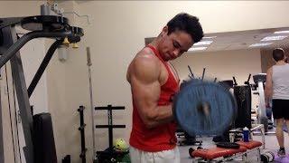 ARM WORKOUT Natural Teen Bodybuilder Sam Shields Biceps