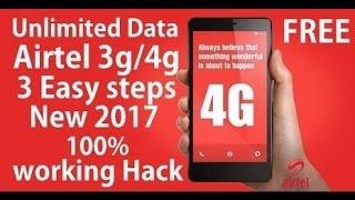 AIRTEL UNLIMITED 3G/4G FREE  INTERNET width=