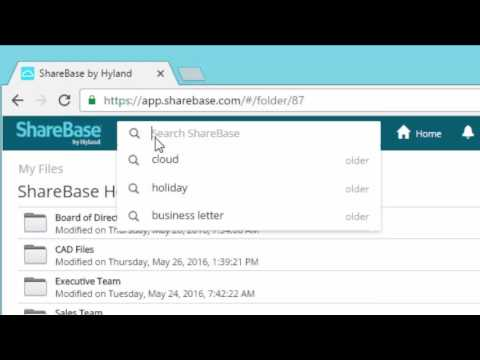 How to Search for Folders and Files in ShareBase