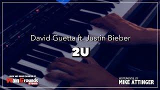 David Guetta - 2U ft. Justin Bieber - Karaoke / Lyrics / Instrumental with piano