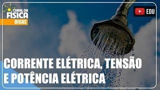 Corrente elétrica, tensão e potência elétrica - Canal da Física