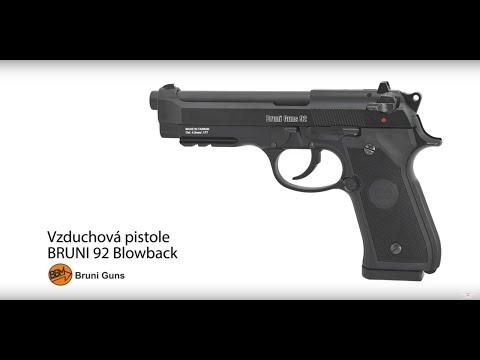 Vzduchová pistole CO2 Bruni 92 Blowback