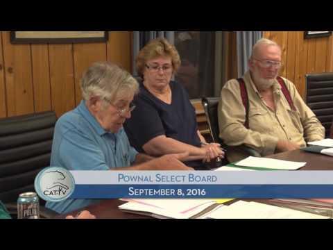 Pownal Select Board - 9/8/16