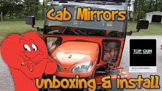 Kubota BX Curtis Cab side mirror unboxing & installation  KM
