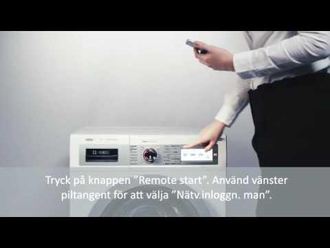 Home Connect anslutning av Bosch tvättmaskin