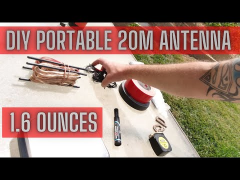 Build a simple, ultralight 20m Antenna for the KX2 and KX3. 4K