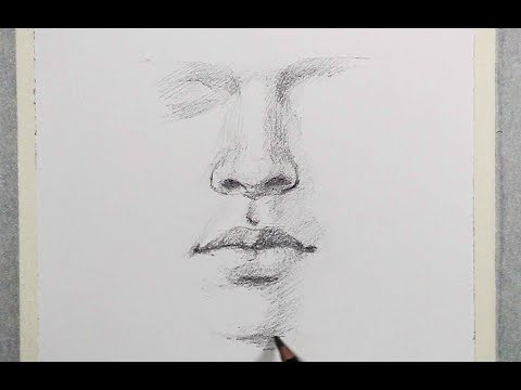 How to shade Nose, Lips step by step in Pencil | Pencil Drawing Techniques