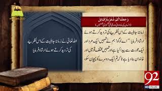 Tareekh Ky Oraq Sy | Insan ki Khandani aur Qabaili Taqseem ki Hiqmatain  | 3 Sep 2018 | 92NewsHD