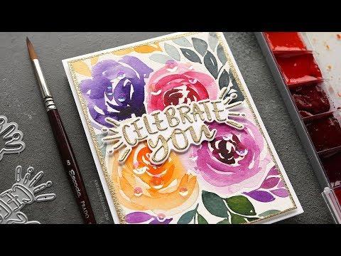 Watercolor Florals Background