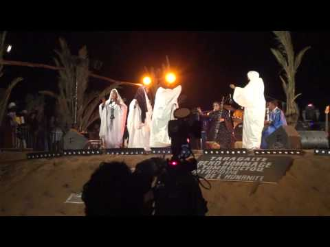 Noura Mint Seymali from Mauritania in Taragalte Festival 2012 – part 4, Mhamid Sahara Desert Morocco