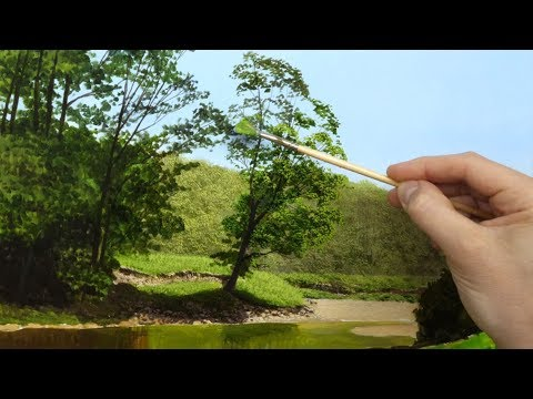 How to paint a Sunny River landscape | Episode #137 time lapse