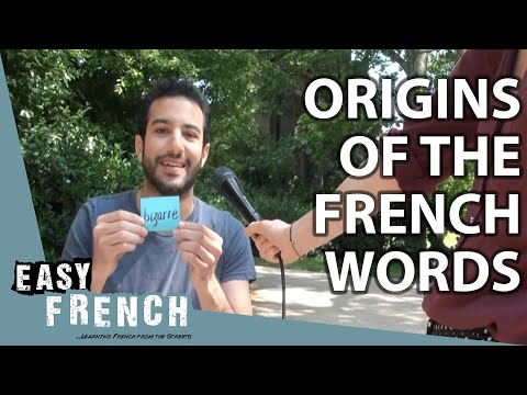 The origin of French words | Easy French 86 photo