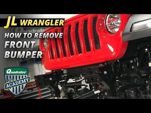 How to Remove the Plastic Front Bumper From a 2018 Jeep Wrangler JL