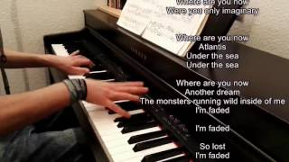 FADED | ALAN WALKER (Piano Cover with Lyrics on screen)