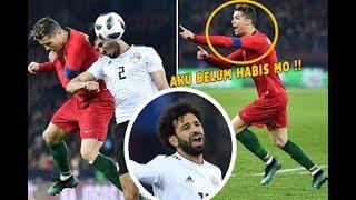 Lihat Perlakuan Cristiano Ronaldo Kepada Mo Salah Pada Laga Portugal Kontra Mesir